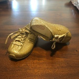 Mini Melissa glitter gold Toddler sneakers size 26